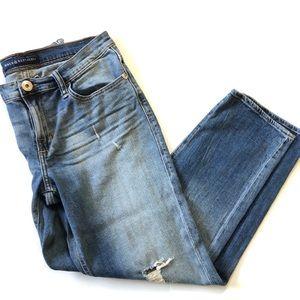 Rock & Republic Blue Distressed Indee Crop Jeans